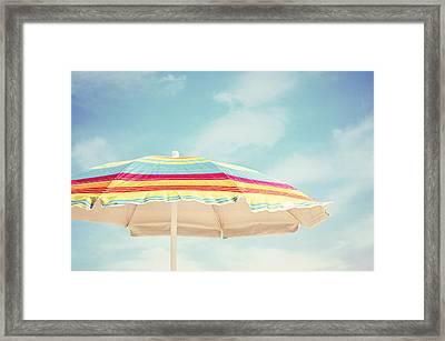 Sand In My Toes Framed Print by Carolyn Cochrane