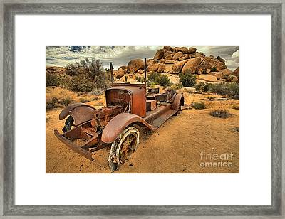 Sand In The Tires Framed Print by Adam Jewell