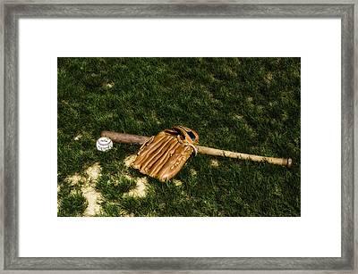 Sand Lot Baseball Framed Print by Bill Cannon