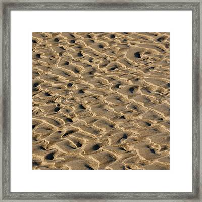 Sand Patterns Framed Print by Art Block Collections