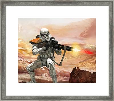 Sand Trooper - Star Wars The Card Game Framed Print by Ryan Barger