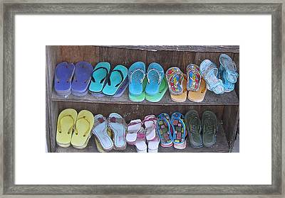 Sandals Framed Print by Russell Smidt
