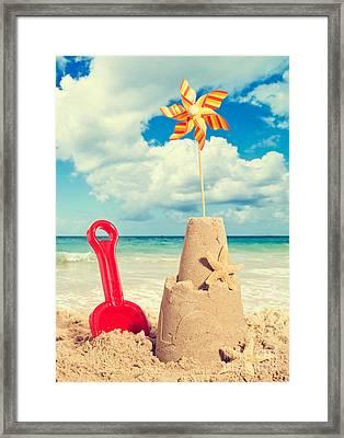 Sandcastle Framed Print by Amanda Elwell
