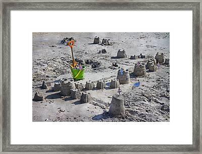 Sandcastle Squatters Framed Print by Betsy C Knapp
