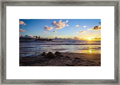 Sandcastle Sunset Framed Print by Mike Ronnebeck