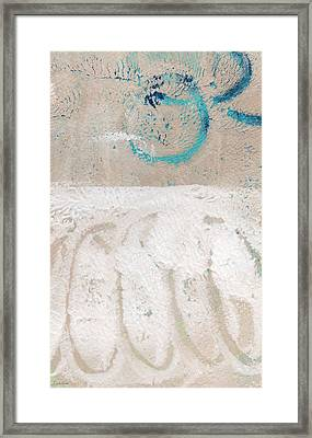 Sandcastles- Abstract Painting Framed Print by Linda Woods
