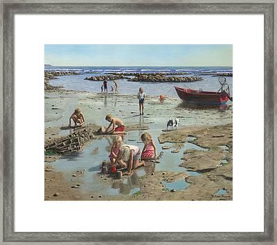 Sandcastles Framed Print by Richard Harpum