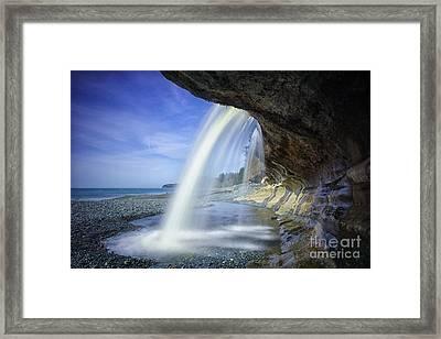 Sandcut Beach Framed Print by Carrie Cole