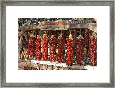 Sandia Chile Ristras Framed Print by Richard and Ellen Thane