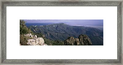 Sandia Mountains, Albuquerque, New Framed Print by Panoramic Images