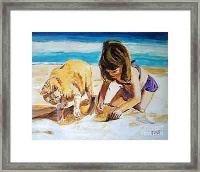 Sandi's Helper Framed Print by Judy Kay