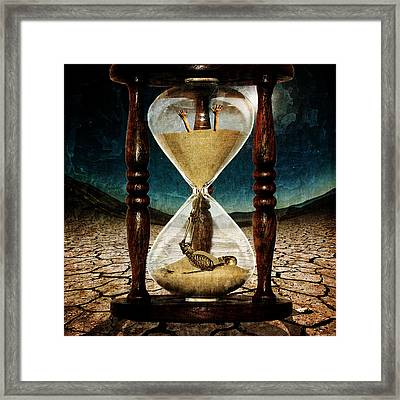Digital Manipulation Framed Print featuring the digital art Sands Of Time ... Memento Mori  by Marian Voicu