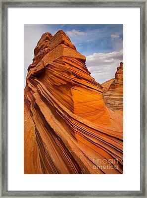 Sandstone Flatiron Framed Print by Inge Johnsson