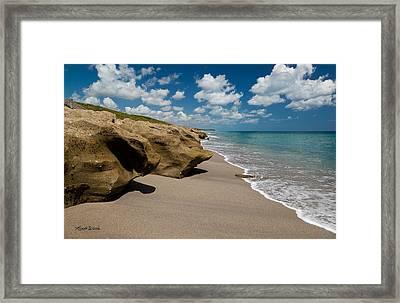Sandstone Shoreline Framed Print by Michelle Wiarda