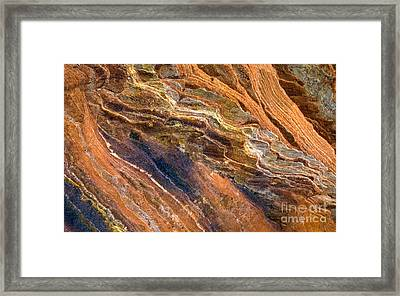 Sandstone Tapestry Framed Print by Mike  Dawson