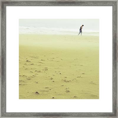 Sandstorm Minimalist Framed Print by Laura Fasulo