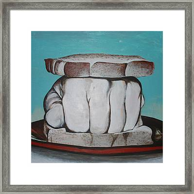 Sandwich Of The Day Framed Print by Kate Tesch