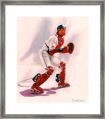 Sandy Alomar Framed Print by Dick Bobnick