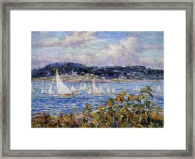 Sandy Bay Cape Ann Massachusetts Framed Print by Beal Reynolds