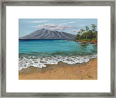 Sandy Beach Framed Print by Darice Machel McGuire