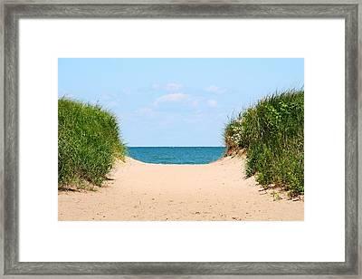 Sandy Beach Framed Print by Heather Allen