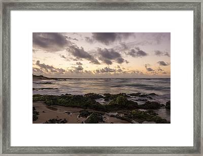 Sandy Beach Sunrise 10 - Oahu Hawaii Framed Print by Brian Harig