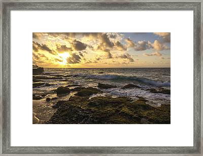 Sandy Beach Sunrise 11 - Oahu Hawaii Framed Print by Brian Harig