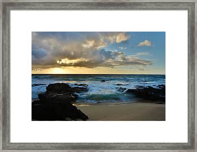 Sandy Beach Sunrise 5 - Oahu Hawaii Framed Print by Brian Harig