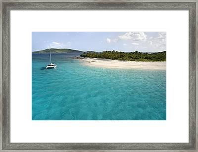Sandy Cay Bvi Framed Print by Bryan Allen