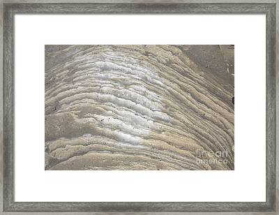 Sandy Flow Framed Print by Graham Foulkes