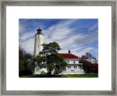 Sandy Hook Lighthouse Nj Framed Print by Skip Willits