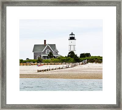 Sandy Neck Lighthouse Cape Cod Framed Print by Michelle Wiarda