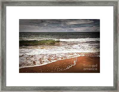 Sandy Ocean Beach Framed Print by Elena Elisseeva