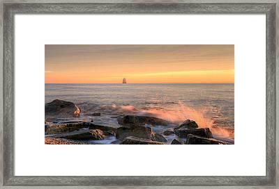 Sandy Point Shoal  Framed Print by JC Findley