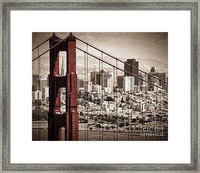 Sanfran Custom Size Framed Print by Matt  Trimble