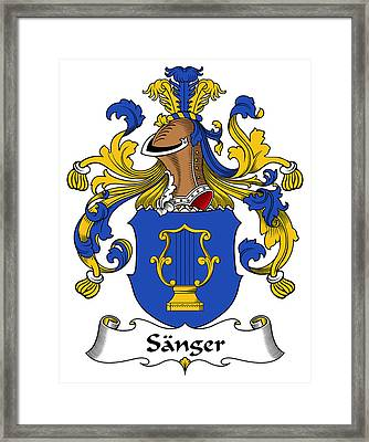 Sanger Coat Of Arms German Framed Print by Heraldry