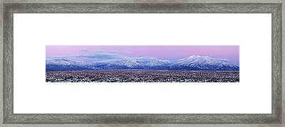 Sangre De Cristo Range After Sunset Framed Print by Panoramic Images