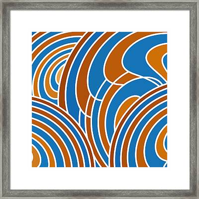 Sanguine And Blue Abstract Framed Print by Frank Tschakert