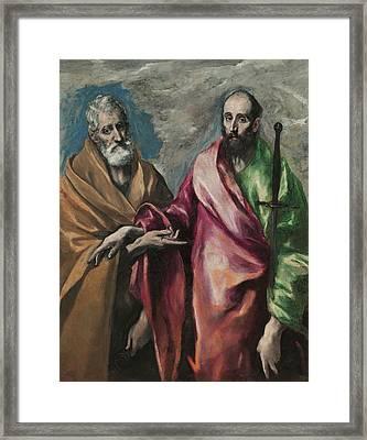 Sant Pere I Sant Pau Framed Print by Celestial Images
