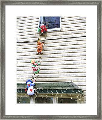 Santa And His Helpers I Framed Print by Keith Yates