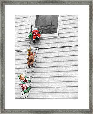 Santa And His Helpers II Framed Print by Keith Yates