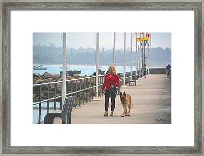 Santa Barbara Breakwater 3 Framed Print by Barbara Snyder