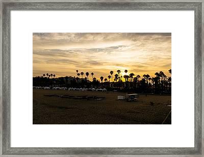 Santa Barbara Sunset Framed Print by Tony Boyajian