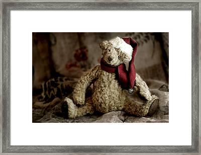 Santa Bear Framed Print by Carol Leigh