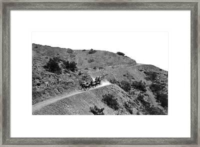 Santa Catalina Stagecoach Framed Print by Frank L. Park