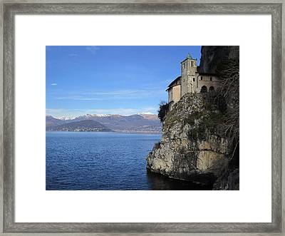 Framed Print featuring the photograph Santa Caterina - Lago Maggiore by Travel Pics