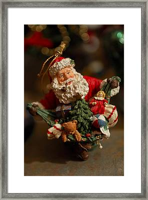 Santa Claus - Antique Ornament - 04 Framed Print by Jill Reger