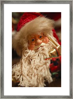 Santa Claus - Antique Ornament - 08 Framed Print by Jill Reger