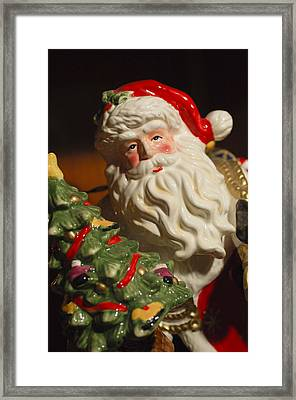Santa Claus - Antique Ornament - 10 Framed Print by Jill Reger