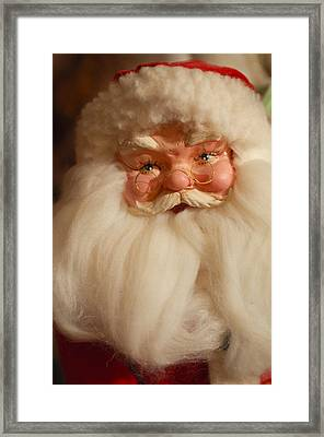 Santa Claus - Antique Ornament - 14 Framed Print by Jill Reger